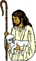 Christ with a lamb PNG