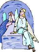 Angels in Christ's empty tomb PNG