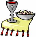 Holy Communion bread and wine PNG