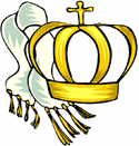 Crown and white Scarf PNG