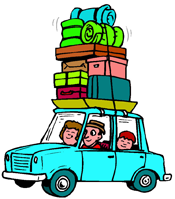 Car load on holiday PNG