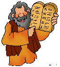 Moses with the Ten Commandments PNG