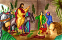 Jesus enters Jerusalem PNG