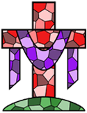 Stained glass cross PNG