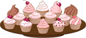 Plate of cakes PNG