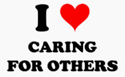 I love caring for others PNG