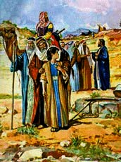 Joseph is pulled up from the well.