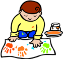 Boy at hand-painting PNG