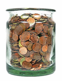 Jar of coins PNG