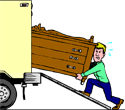Man loading lorry PNG