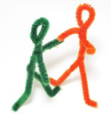 Pipe cleaner people PNG