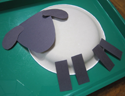 Sheep paper plate PNG