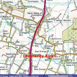 Map Showing Inverarity