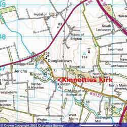 Map Showing Kirkton