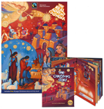 The Real Egg Advent calendar and Christmas story book PNG