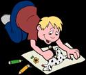 Boy drawing PNG