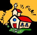 Church is fun PNG