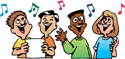 Children singing PNG