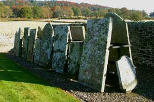 Display Of Gravestones In Kinnettles Kirkyard