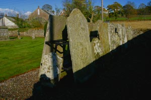 Display Of Gravestones In Kinnettles Kirkyard