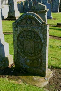 Ornate Gravestone In Kinnettles Kirkyard